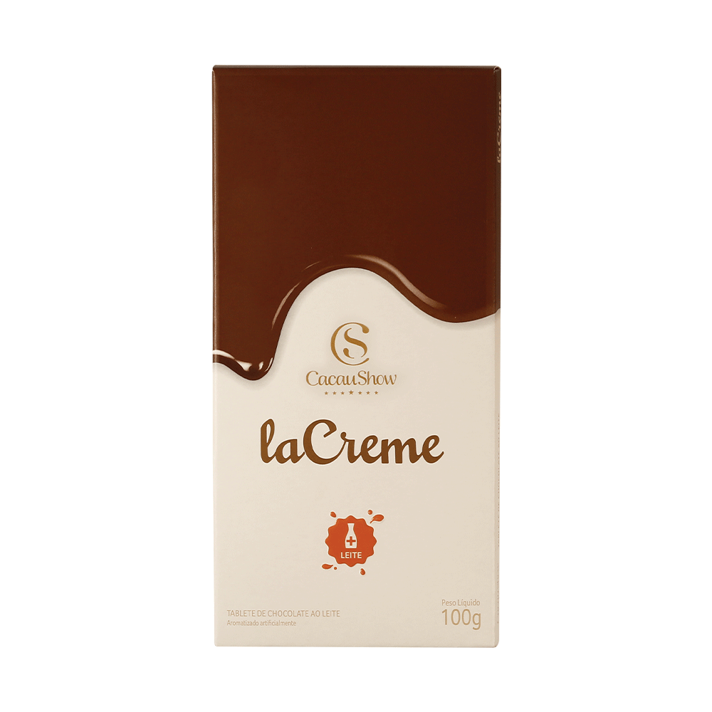 TABLETE LACREME AO LEITE 100G, , large. image number 0