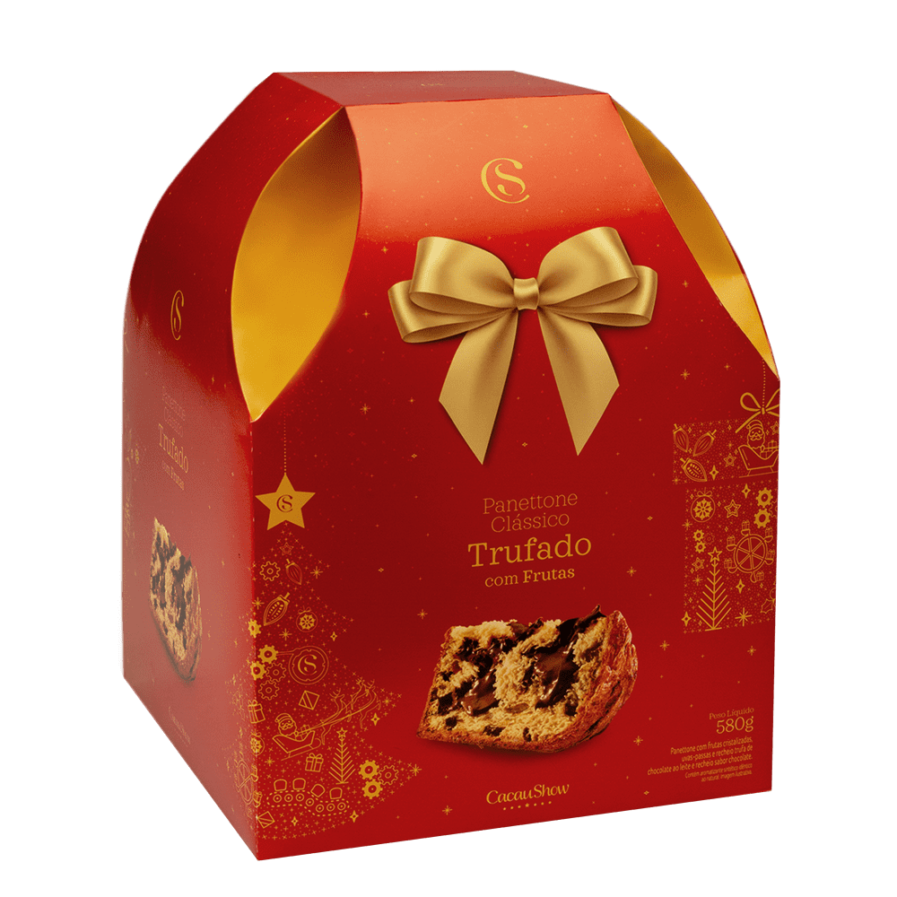 PANETTONE FRUTAS TRUFA 580G, , large. image number 0