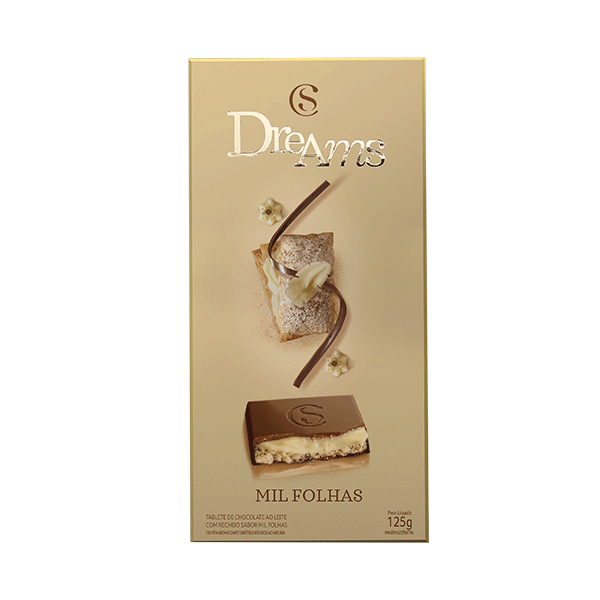 TABLETE DREAMS MIL FOLHAS 130G