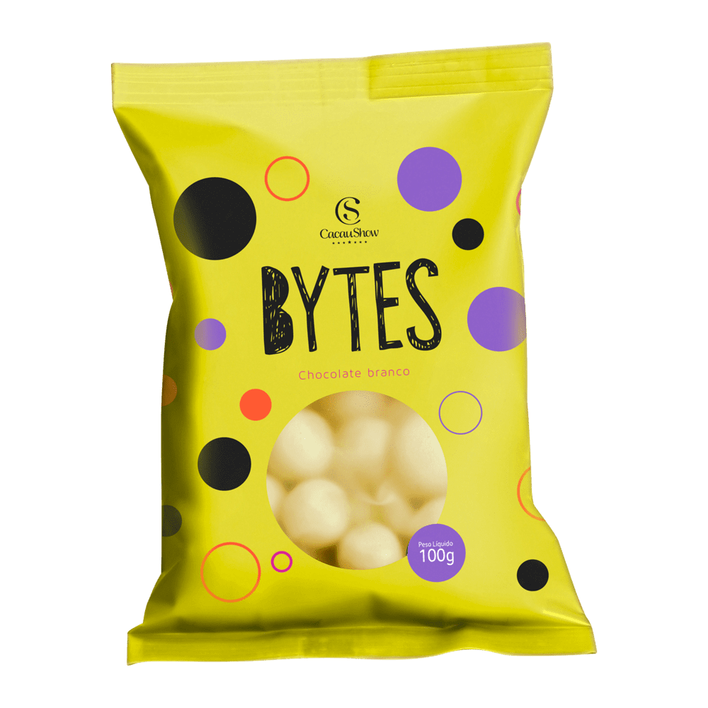 BYTES CHOCOLATE BRANCO CROCANTE 100G, , large. image number 0