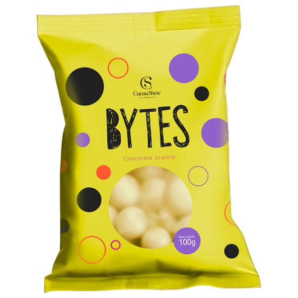 BYTES CHOCOLATE BRANCO CROCANTE 100G